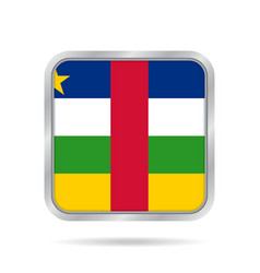 flag of central african republic square button vector image vector image