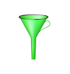 Funnel in green design vector