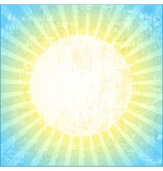 Grunge Sun Background vector image
