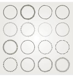 Hand Drawn Circle Logo and Badge Elements vector image vector image