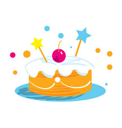 holiday cake isolated icon vector image vector image