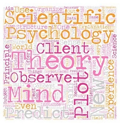 Is psychology a science text background wordcloud vector