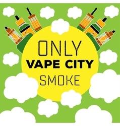 Logo electronic cigarette vaping vector