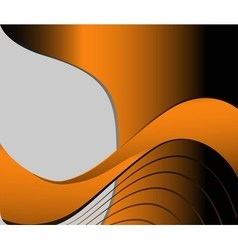 Orange wave on black background with place for tex vector