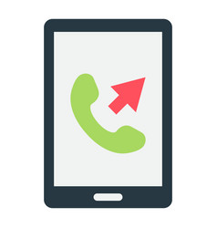 Outgoing call flat icon contact us and website vector