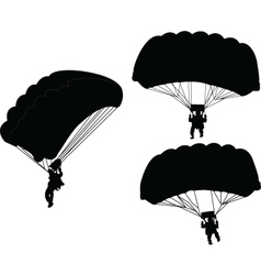 parachutist - vector image vector image