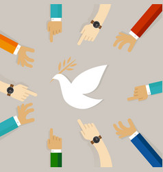 Peace conflict resolution symbol of international vector