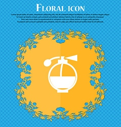Perfume icon sign floral flat design on a blue vector