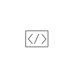 programming code icon vector image vector image
