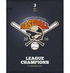 Retro baseball poster vector