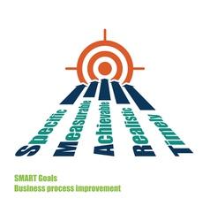 SMART goals target vector image vector image