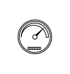 Speedometer line icon navigation and tachometer vector