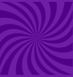 Spiral background from dark purple curved rays vector