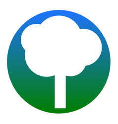 Tree sign white icon in vector