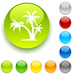 tropical button vector image