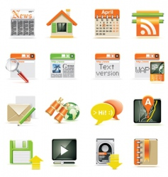 web page icon set vector image vector image