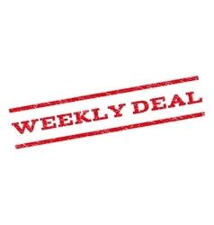 Weekly Deal Watermark Stamp vector image vector image