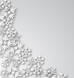 White Frost Background vector image