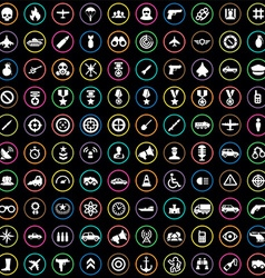 100 war icons vector image vector image