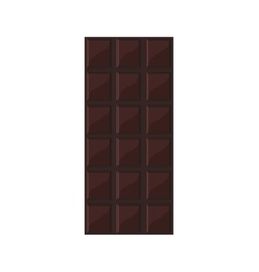 Candy dark chocolate bar icon vector