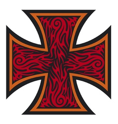 Iron cross tattoo style - Tribal style vector image