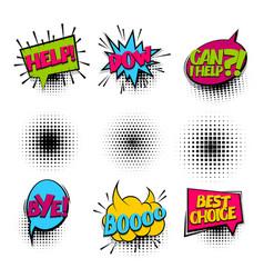 bye set colored comics book balloon vector image