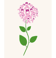 Brest cancer concept flower vector