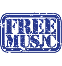 Free music stamp vector