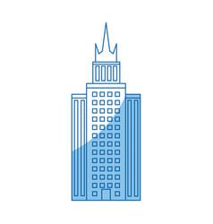 Building skyscraper high facade urban outline vector