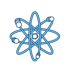 Atom science element vector