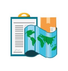 Checklist box and map location vector