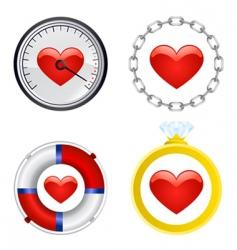 heart symbol set vector image