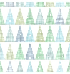 Abstract Christmas trees forest in snow seamless vector image