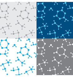 Seamless texture with molecules - set vector