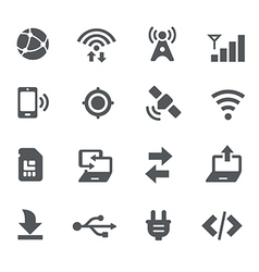 Connectivity Icons - Apps Interface vector image