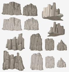 Stone and wall vector