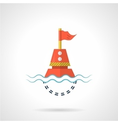 Flat color icon for red buoy vector