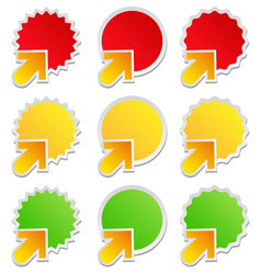 stickers with arrows vector image