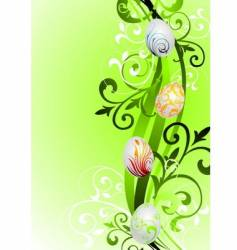Easter illustration with painted eggs vector image