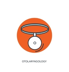 Otolaryngology medical icon vector