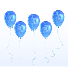 Balloons with a christmas ornament vector