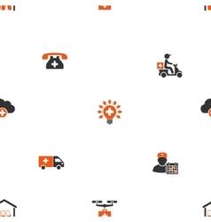 Medical shipment seamless flat wallpaper vector