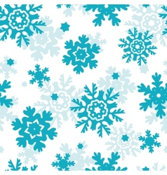 Blue frost snowflakes seamless pattern background vector