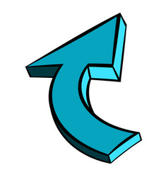 blue spiral arrow icon icon cartoon vector image
