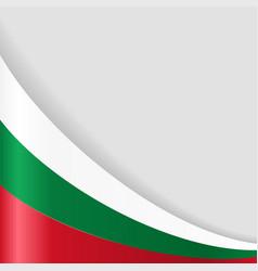 Bulgarian flag background vector
