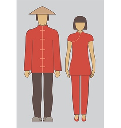 Chinese couple vector image vector image