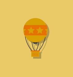 Circus watercolor hot air balloon in sticker style vector