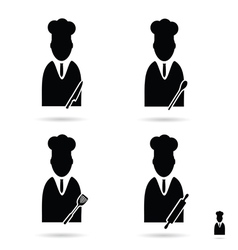 cook icon set vector image vector image