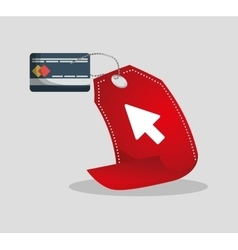 Credit card tag price shopping online concept vector