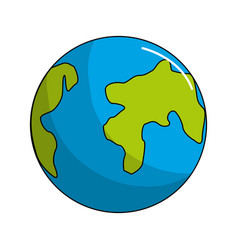 earth planet environment conservation icon vector image vector image